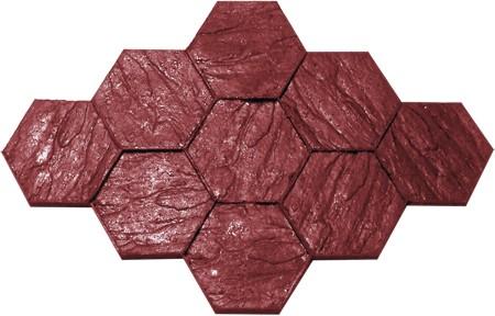 Molde rm030 para concreto estampado for Moldes para adoquines